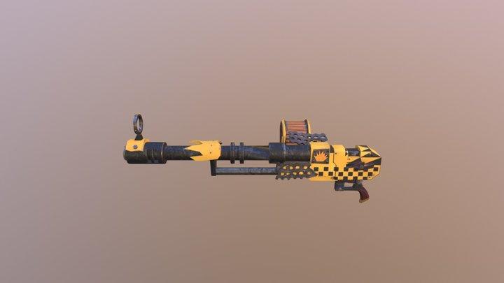 Ork 40k Big Shoota (Lo0ted Autogun) Bad Moons Sk 3D Model