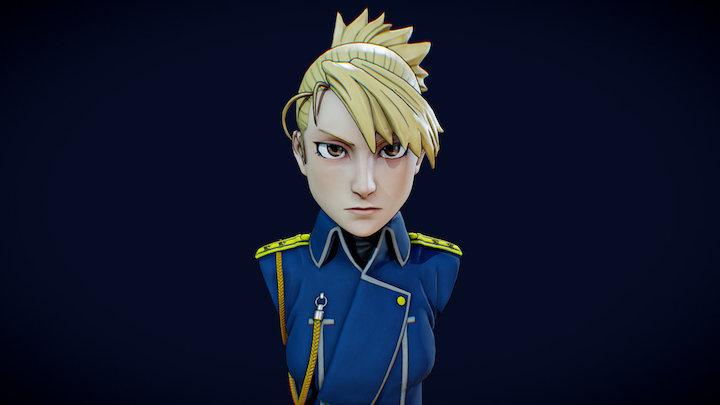 Riza Hawkeye - Fullmetal Alchemist Fanart 3D Model