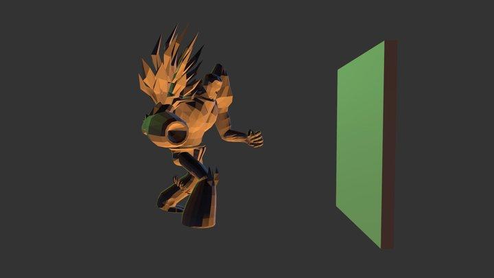 Hit Wall- Titan 3D Model