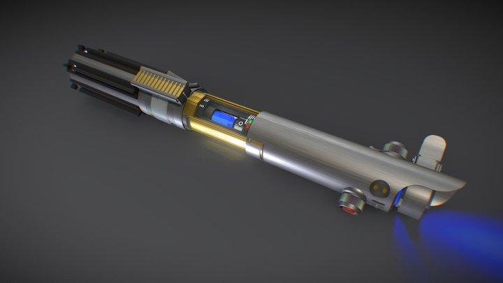 Lightsaber Crystal Chamber - Luke's ESB Graflex 3D Model