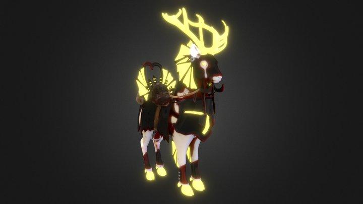 Deer Mount 3D Model