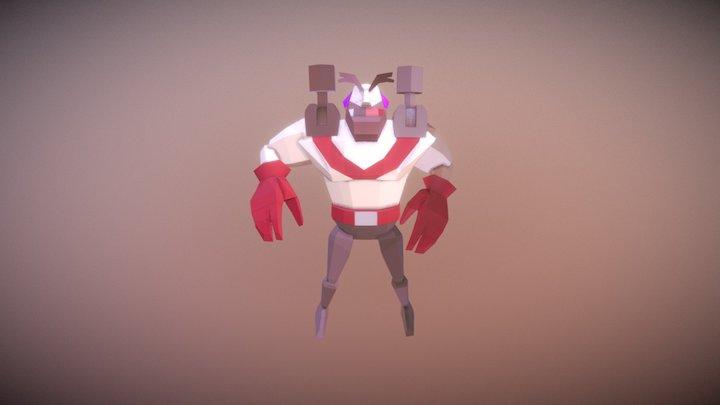 Bomber Death 3D Model