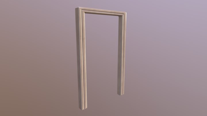 Bathroom Door Frame 3D Model