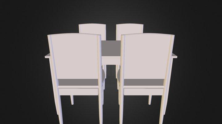 Corner Table2 3D Model