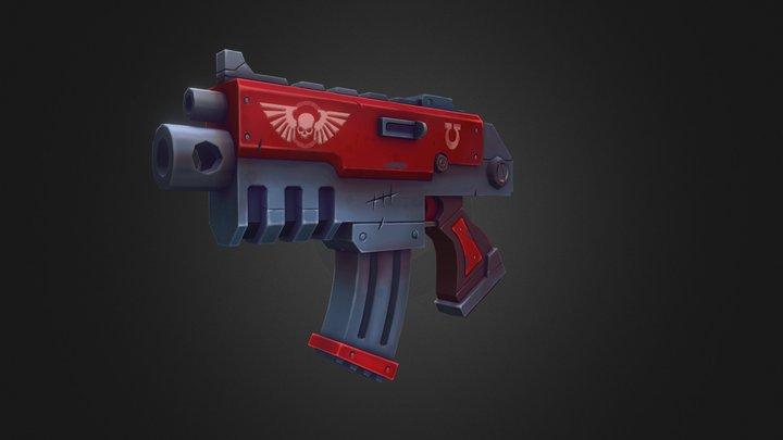 Warhammer 40k Boltgun 3D Model
