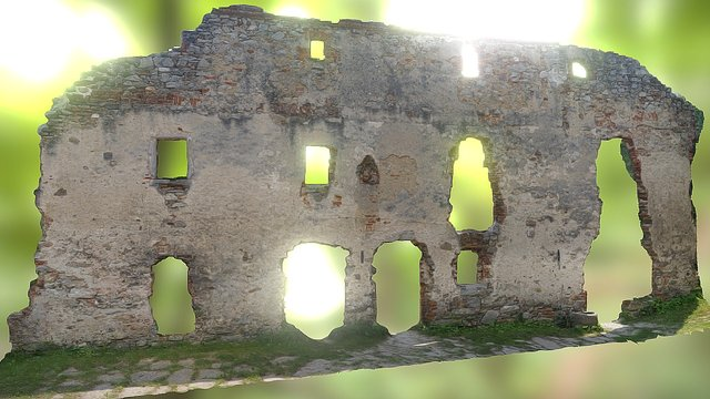 Jungendberg Streitwiesen - Old Wall 3D Model
