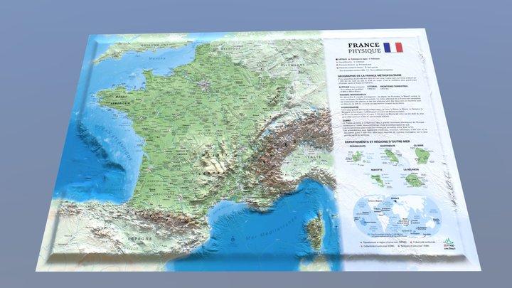 La France physique 3D Model