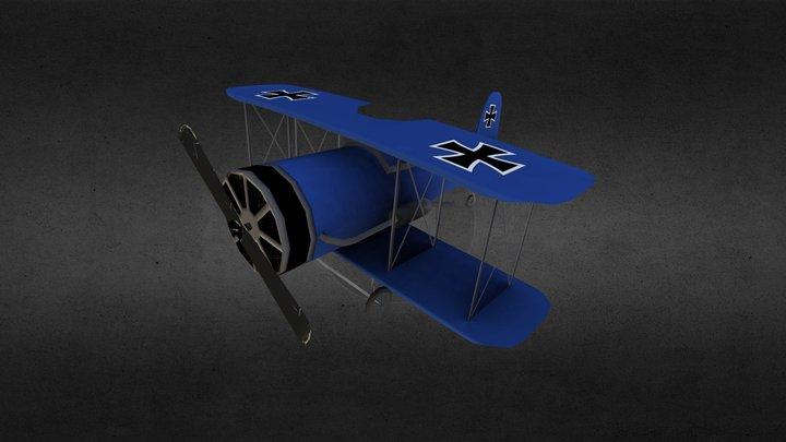 Low Poly Toy Plane 3D Model