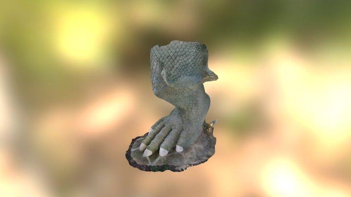 Standing Iguanodon - Back Right Leg 3D Model