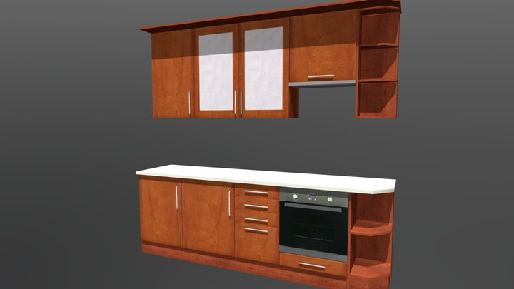 Kitchen Cabinet 8 3D Model