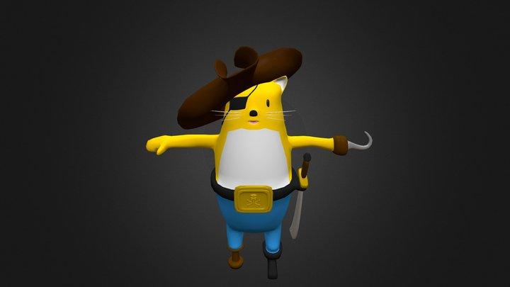 "Cat Pirate ""Orange Floatilla"" 3D Model"
