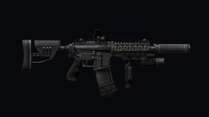 M4 FBX 3D Model