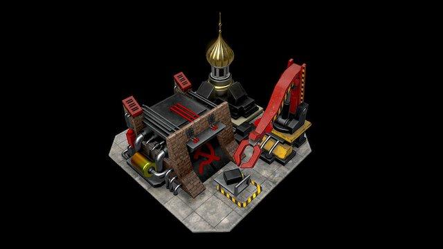 Soviet Construction Yard 3D Model