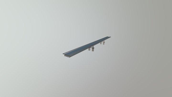 Modelo de Ponte Mista - 3D 3D Model