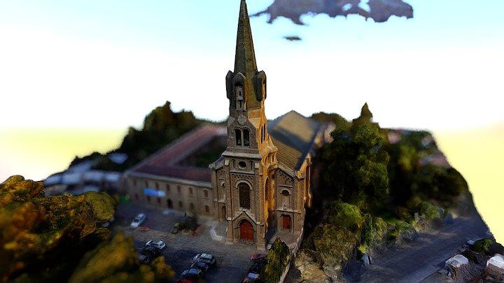 Iglesia padres pasionistas prueba photoscan 3D Model