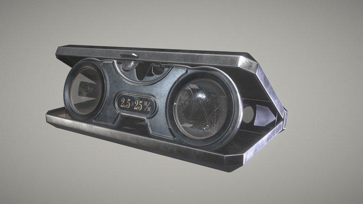 king 2.5 x binoculars 3D Model