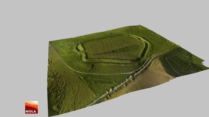 Uffington Castle, Oxfordshire, UK 3D Model