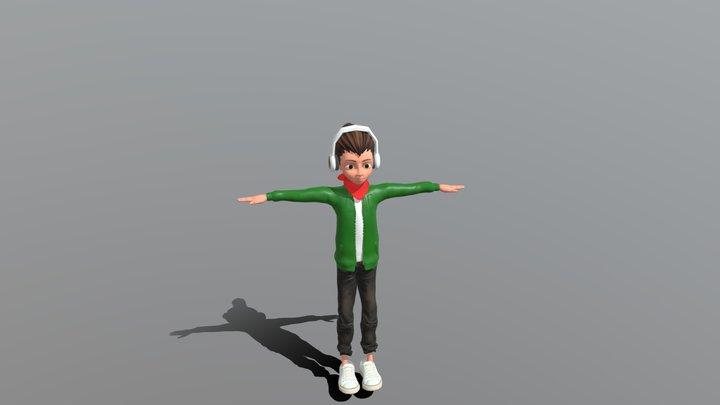 lo-fi hip hop anime girl 3d 3D Model