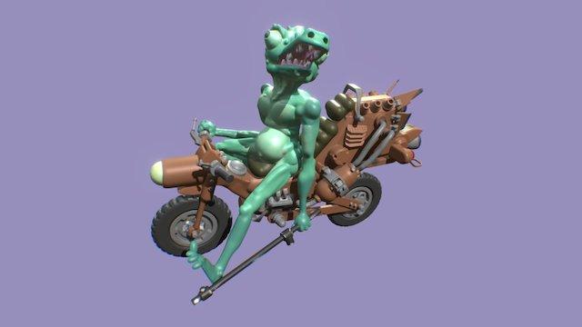 Bike Lizard 3D Model
