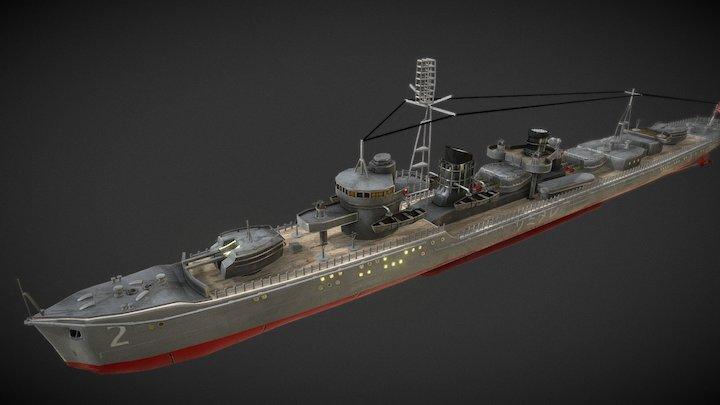Samidare destroyer 3D Model
