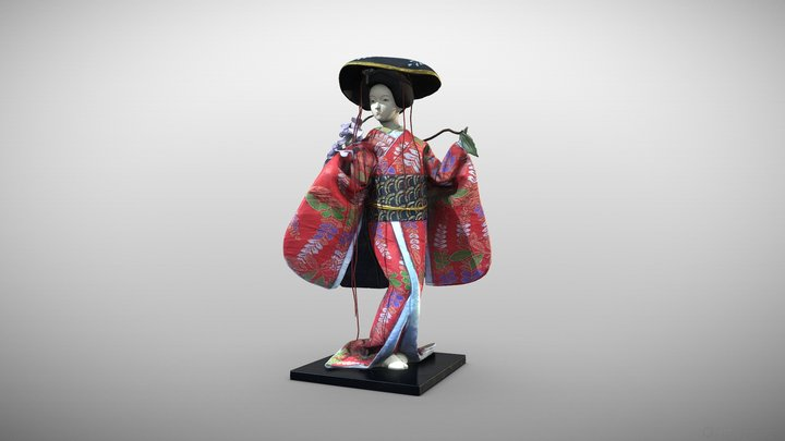"""Geisha"" by Unknown Artist 3D Model"