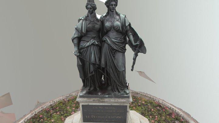 Statue Genève Helvetie 3D Model