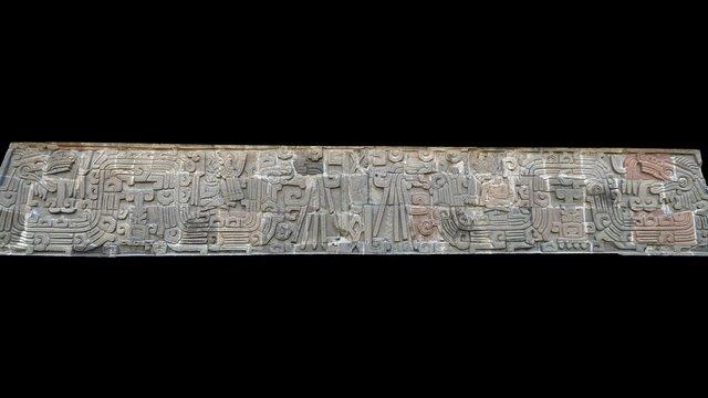 Templo de las serpientes emplumadas - Xochicalco 3D Model