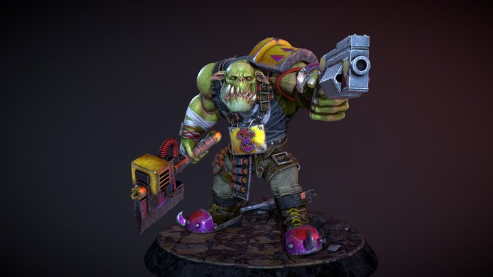 Warhammer 40k Ork Realtime Fan Art 3D Model