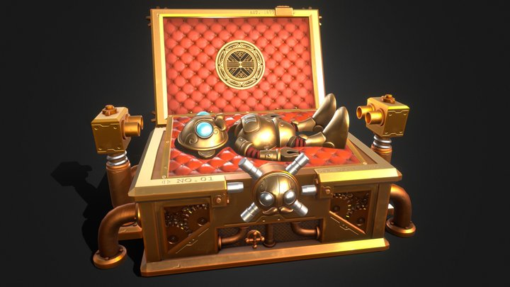 The Steampunk Vault 3D Model