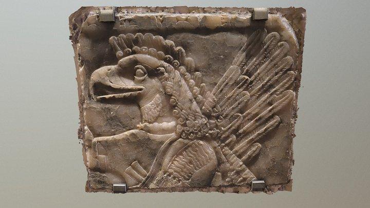 Relief of eagle-headed demon 3D Model