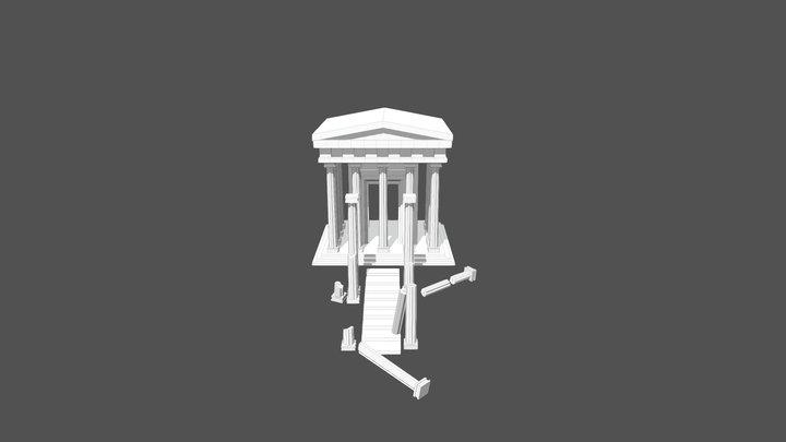 Greek entrance 3D Model