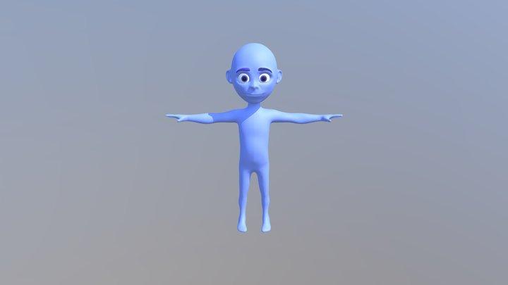 Small Kid Blue 006 3D Model