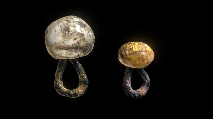 Glass buttons XI - XII century 3D Model
