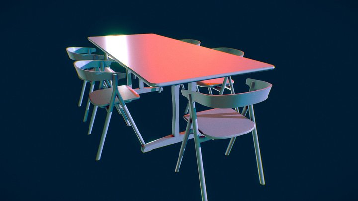 Dining Set Assignment by Keali'i Transfield 3D Model