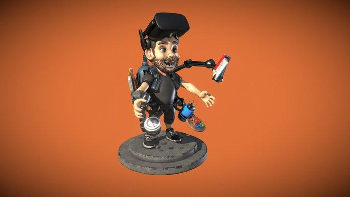 VR sculpted self portrait 3D Model