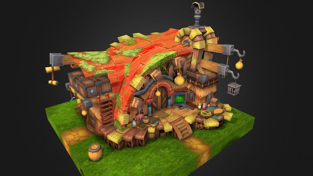 WoodHouse 3D Model