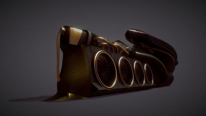 Caber punk train WIP 3D Model
