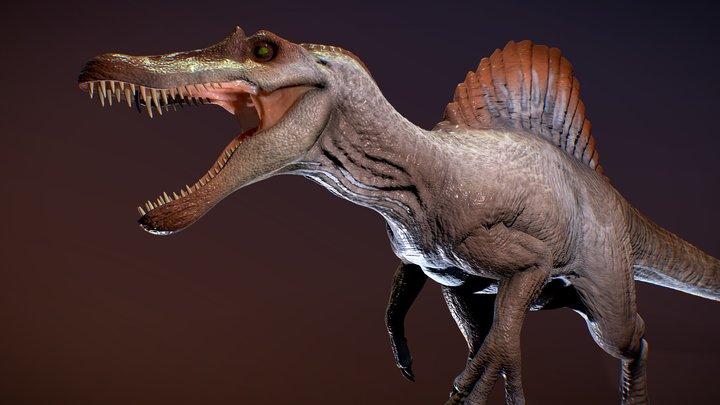 Spinosaurus Jurassic park 3 fan art 3D Model