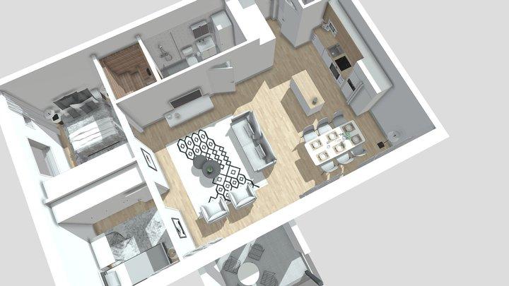 Sepänpaja Huoneisto A23 3D Model