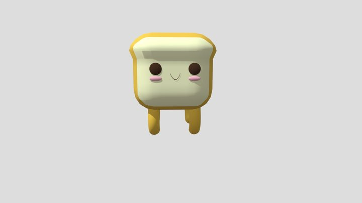 Kawaii Bread Pet! 3D Model