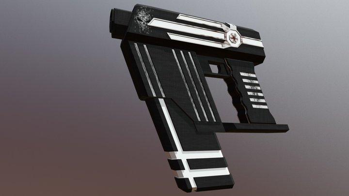 Space Submachine Gun 3D Model