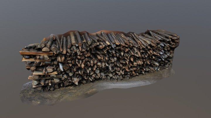 Firewood 01 3D Model