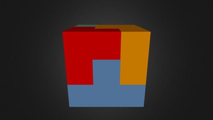 Full Puzzle Cube 3D Model