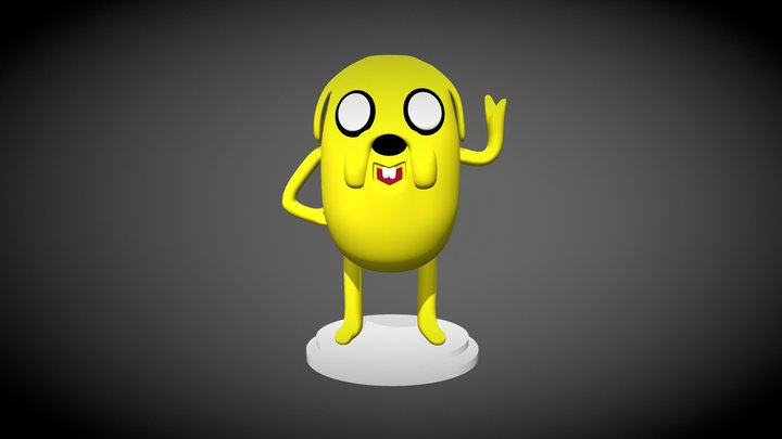 Character with a cartoon Adventure time 3D Model