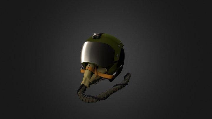 Fighter Pilot Helmet 3D Model