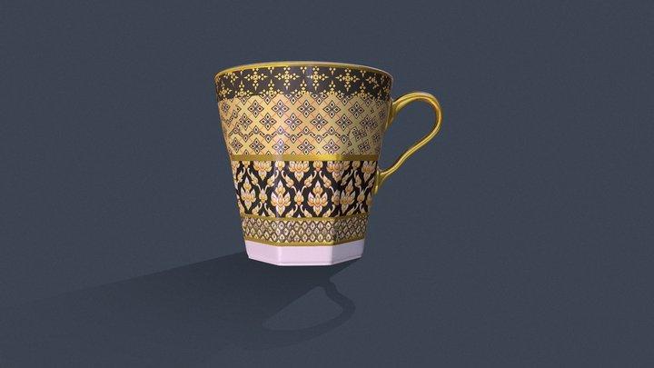 Thai Traditional Tea Cup 3D Model