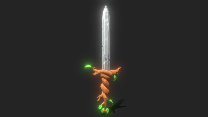 Low Poly Sword 3D Model
