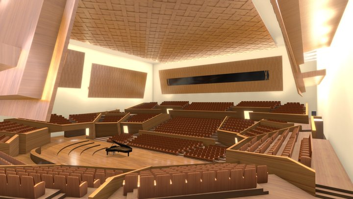 Concert Hall | Amphitheater VR 2021 (5.5MB FBX) 3D Model