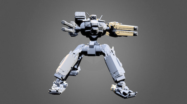 Quadruped Mech 3D Model