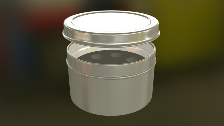 Tin with lid and foam insert 3D Model